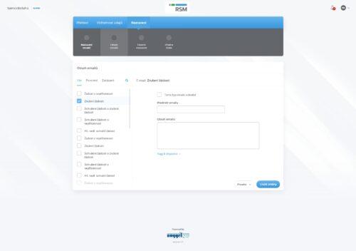 admin - obsah emailů – vybrano