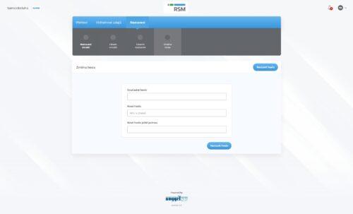 admin - změna hesla